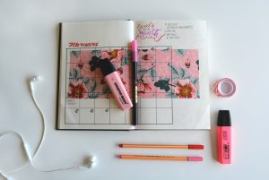 Pink Hand made Calendar for Scheduling Content